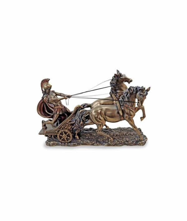 Römer im Streitwagen bronziet