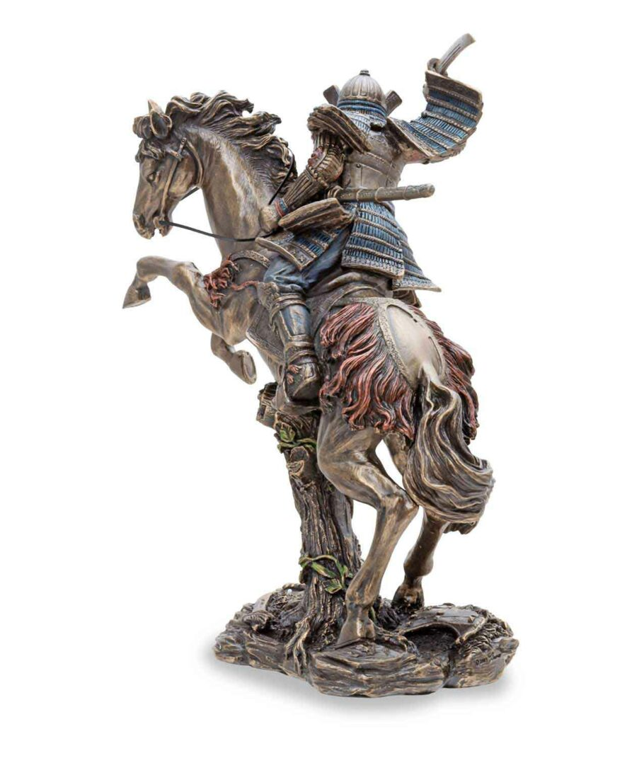 Samuraikrieger auf Pferd - Bronzefigur