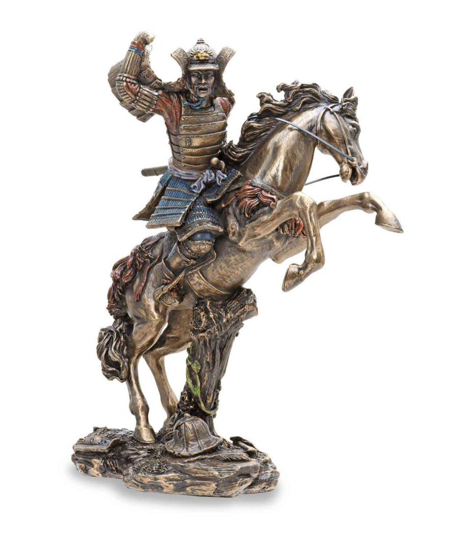 Samuraikrieger auf Pferd