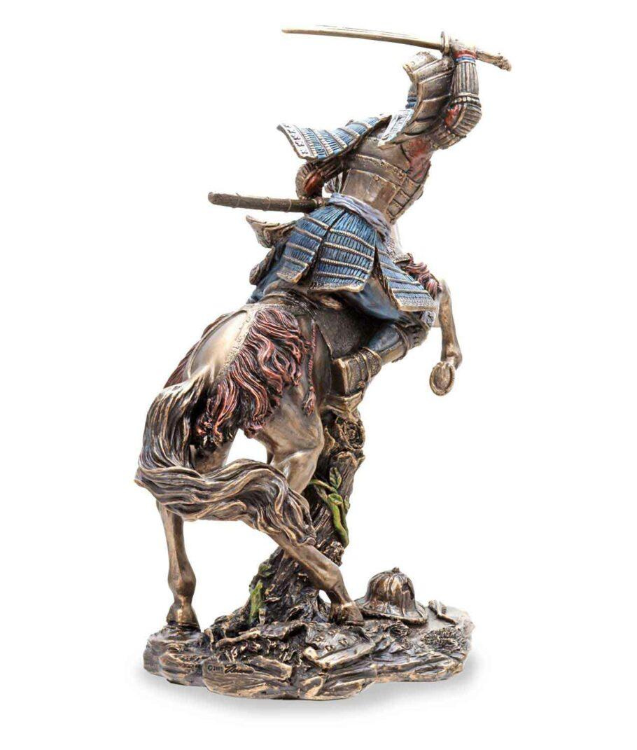 Samuraikrieger auf Pferd - Rückseite