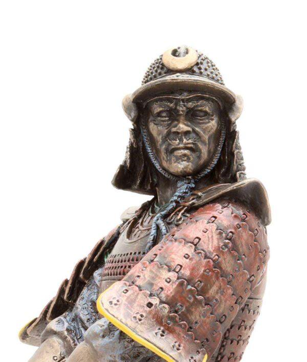Samuraikriefer mit Schwert - Gesicht
