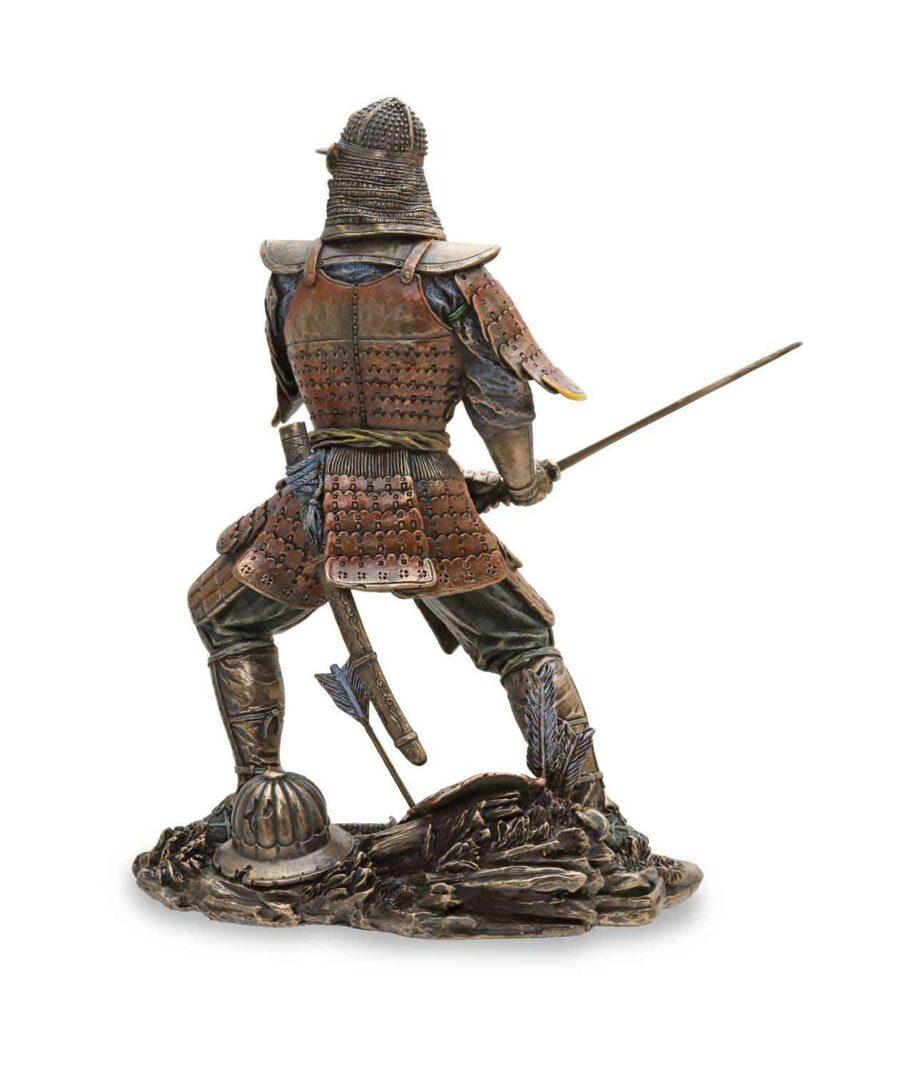Samuraikriefer mit Schwert - Rücken