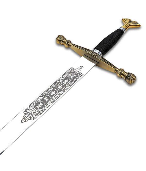 Der Griff des Schwerts Karl V
