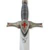 Templer Dolch mit Ritterhelmknauf mit Waffenkammer Logo