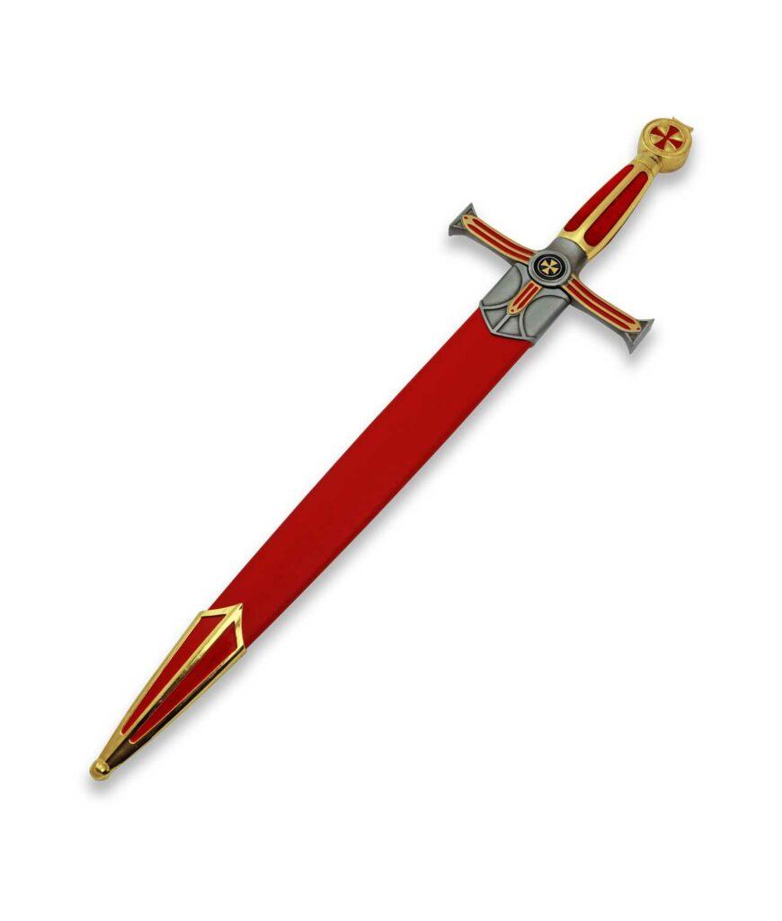 Templerdolch der Großmeister in roter Scheide
