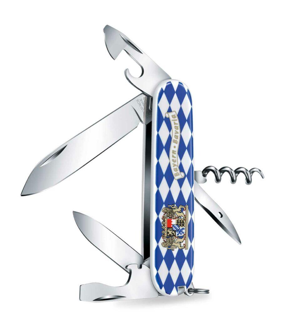 Victorinox Spartan Bayern Raute weiß blau geöffnet