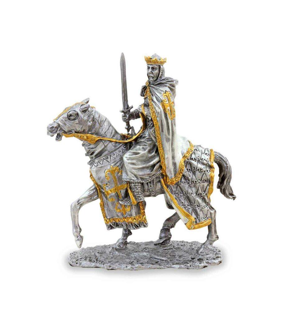 Zinnkönig auf Pferd mit Schwert