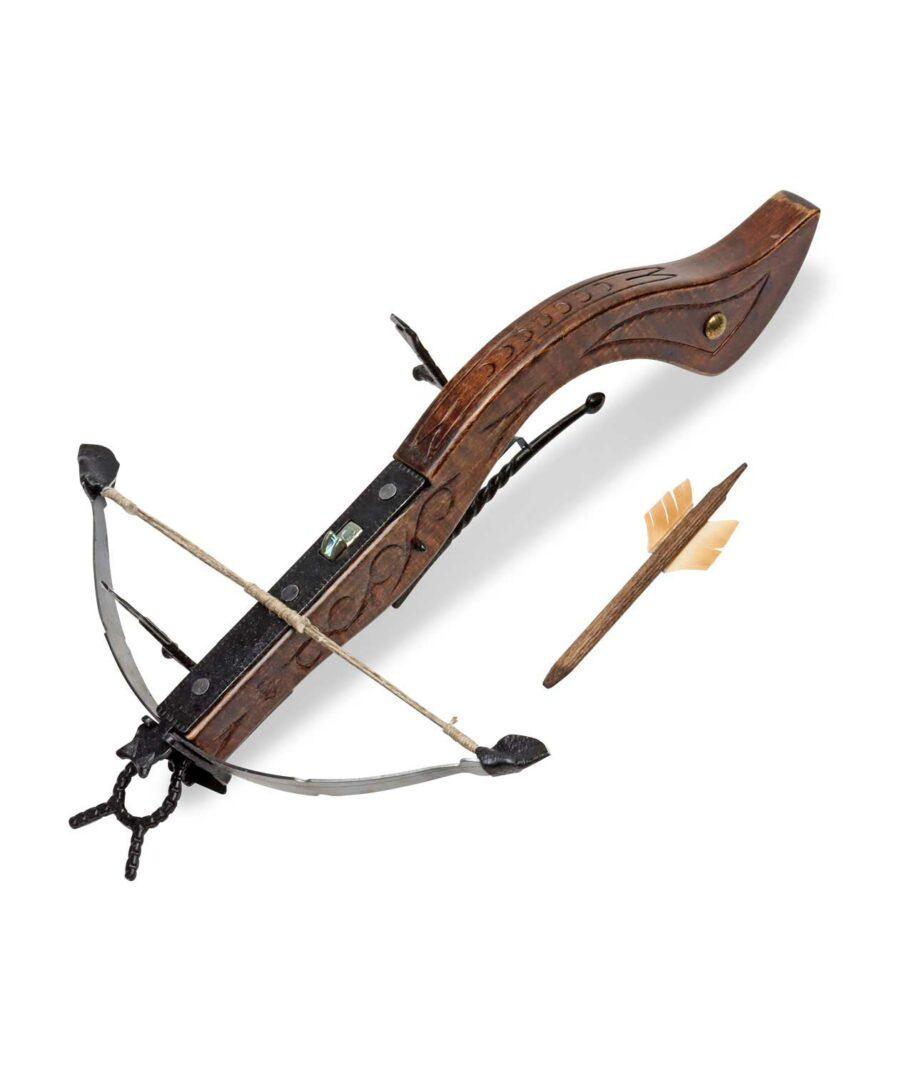 kleine Mittelalterliche Armbrust 32 cm mit Bolzen