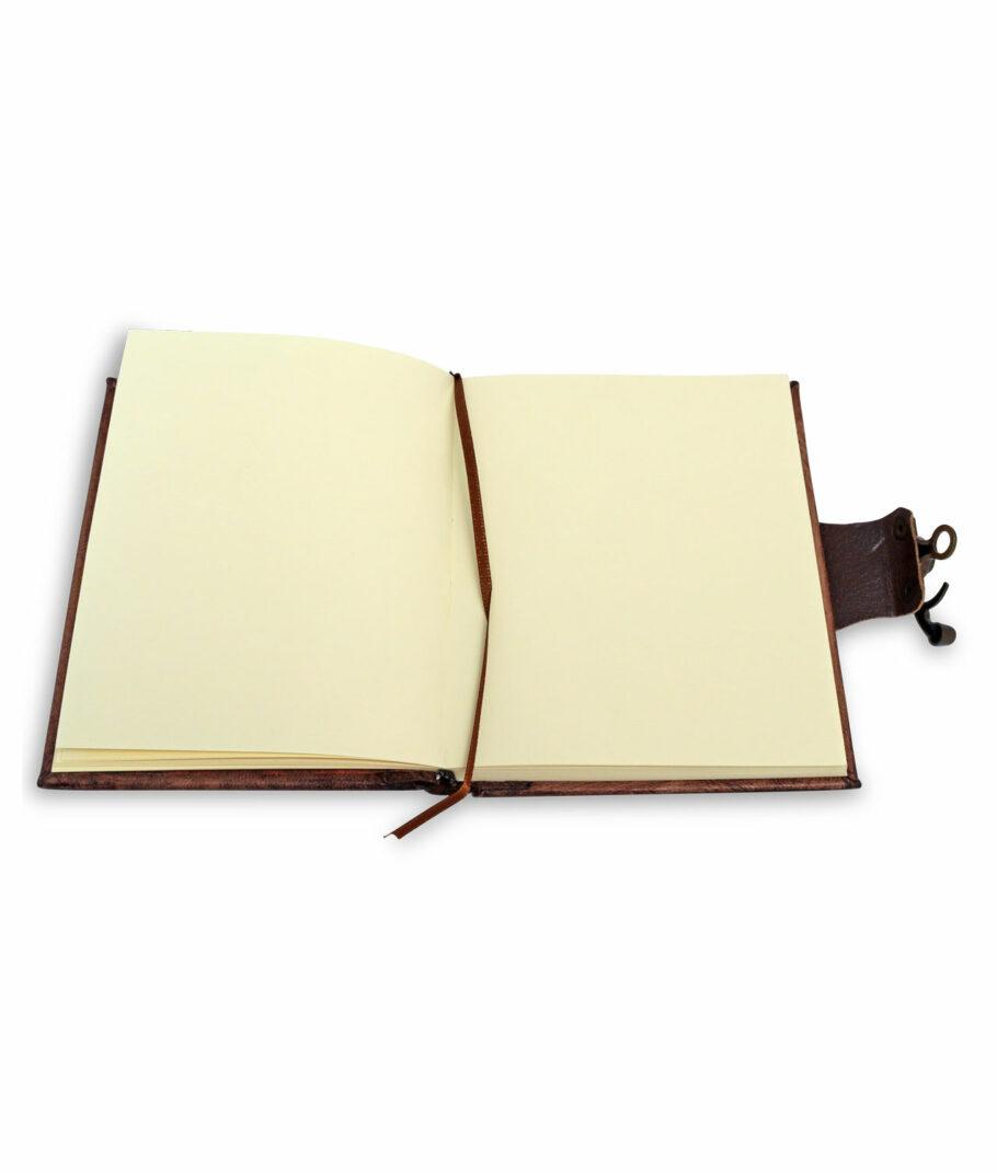 Die Seiten des kleinen Lederbuchs