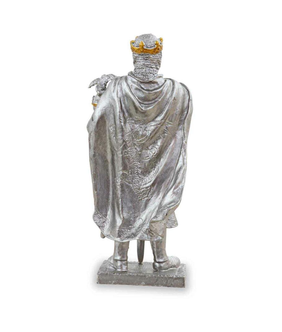 Zinnritter - König Arthur mit Krone von der Rückseite