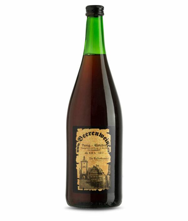 Waldbeermet in der 1,0 Liter Flasche